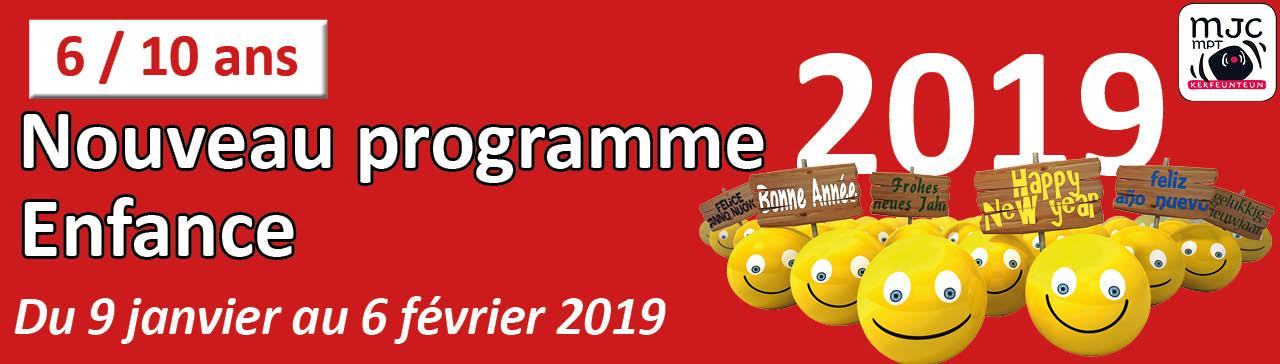 Programme enfance janvier fevrier 2019 de la MJC de Kerfeunteun