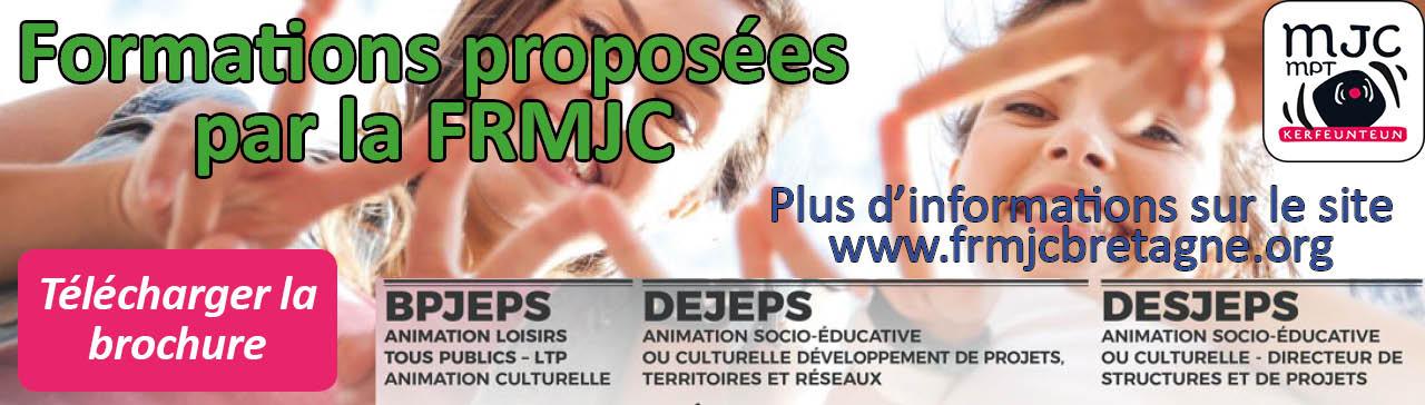 Formations proposées par la FRMJC Bretagne